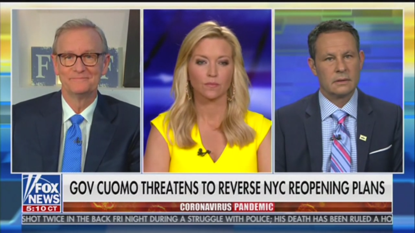 Fox's Brian Kilmeade Rages at Andrew Cuomo: 'Mr. Tough Guy' Is 'So Full of Himself'