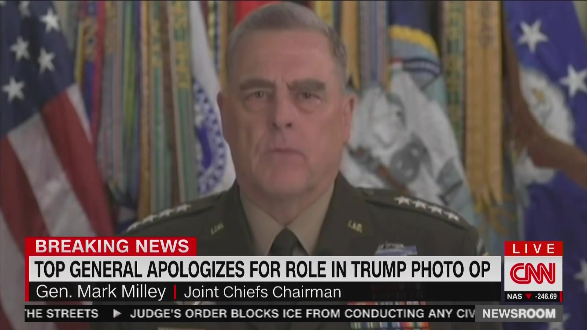 Gen. Mark Milley Apologizes for Appearing in Trump Photo-Op