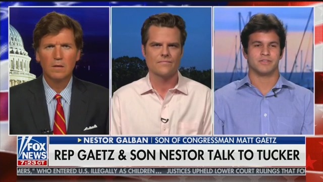 Matt Gaetz Unveils His Secret 'Son' on Tucker Carlson Tonight