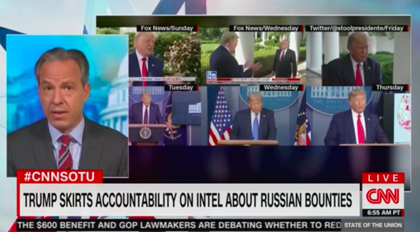 Jake Tapper: Trump's Cognitive Test, Confederate Statues, 'Cancel Culture' Overshadow Russian Bounty Scandal