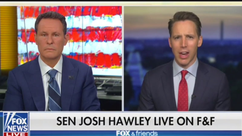 GOP Senator Josh Hawley Blasts 'Marxist' BLM: 'In the Principle, Of Course Black Lives Matter'