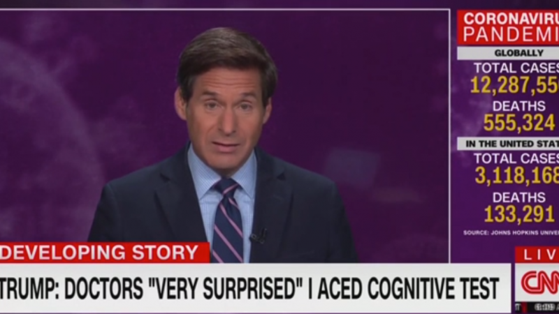 Watch: CNN's John Berman Is 'Shocked' That Trump Bragged About Passing a Cognitive Test