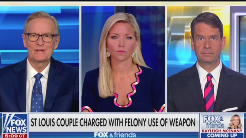 'Fox & Friends' Defend St. Louis Gun Couple: It's Not Like They Squeezed Off a Couple of Rounds