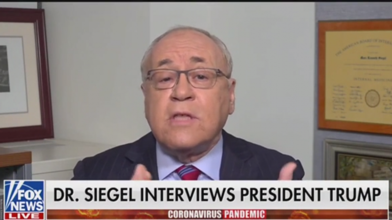 Watch: Fox News' Dr. Marc Siegel Praises 'Extremely Sharp' Trump After Interview