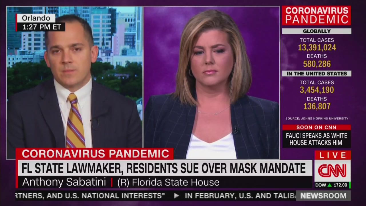 CNN's Brianna Keilar Clashes With GOP Lawmaker Suing Over Masks: 'To Be Clear, You're Not a Doctor'