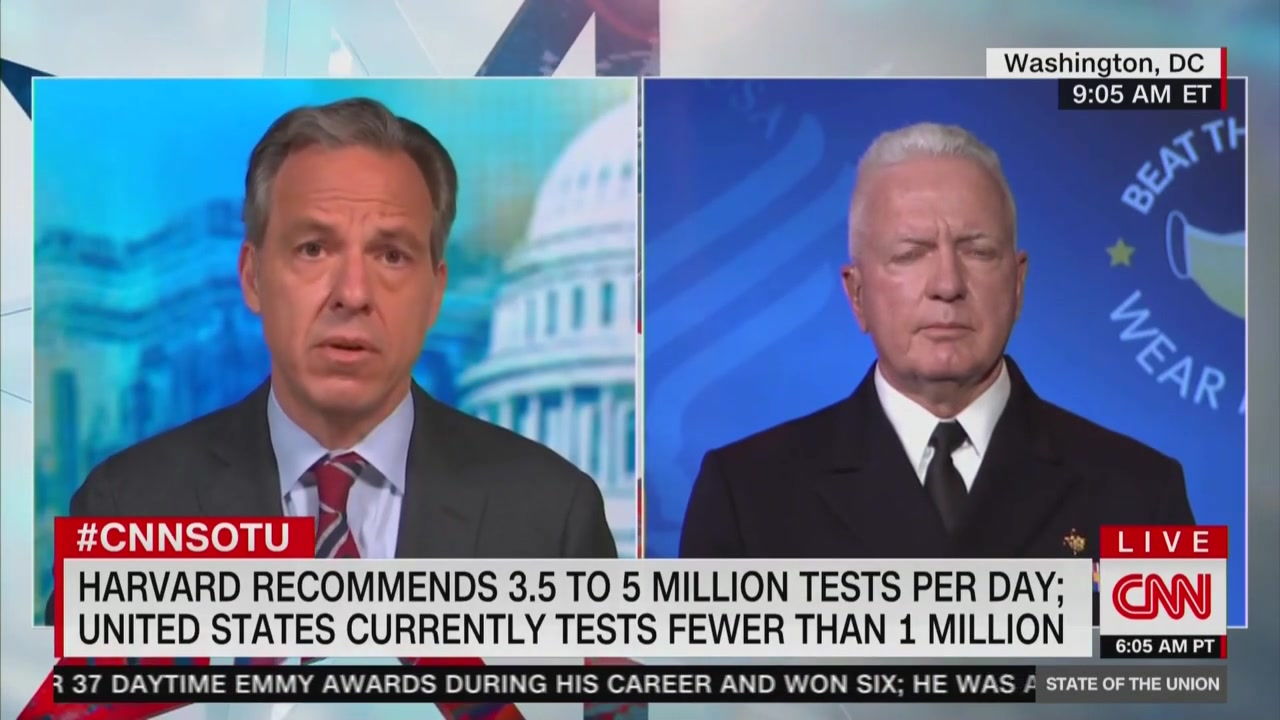 Jake Tapper Confronts HHS Official on Coronavirus Testing Issues: Are You 'Afraid' of Upsetting Trump?