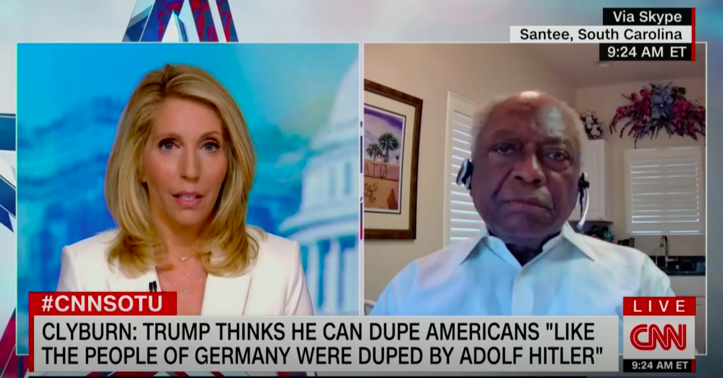 Clyburn: Trump's 'Strongarm Tactics' Show He Doesn't Want to 'Peacefully Transfer Power'