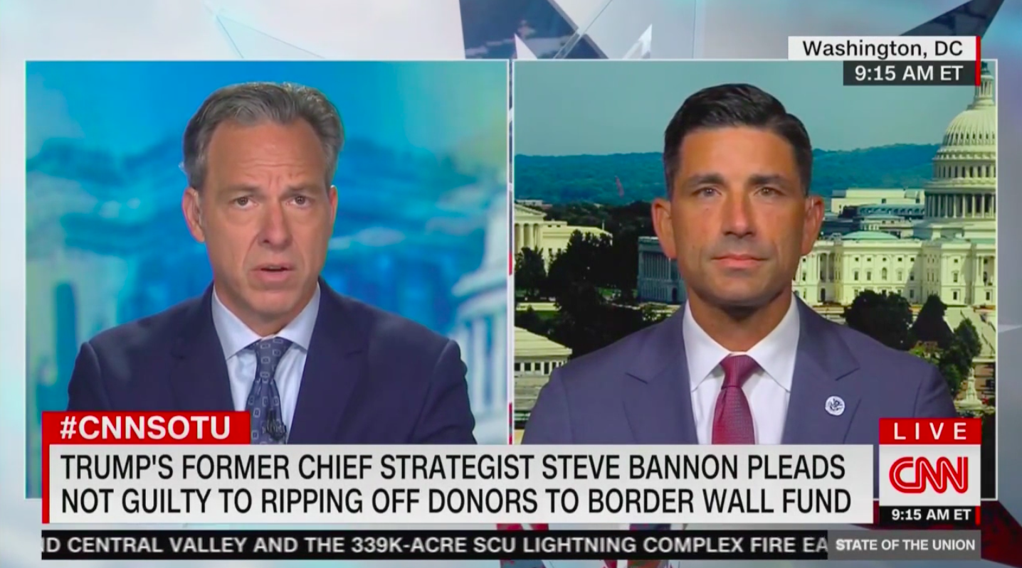DHS Chief Chad Wolf Questioned on Past Support for Steve Bannon's Wall 'Scam'