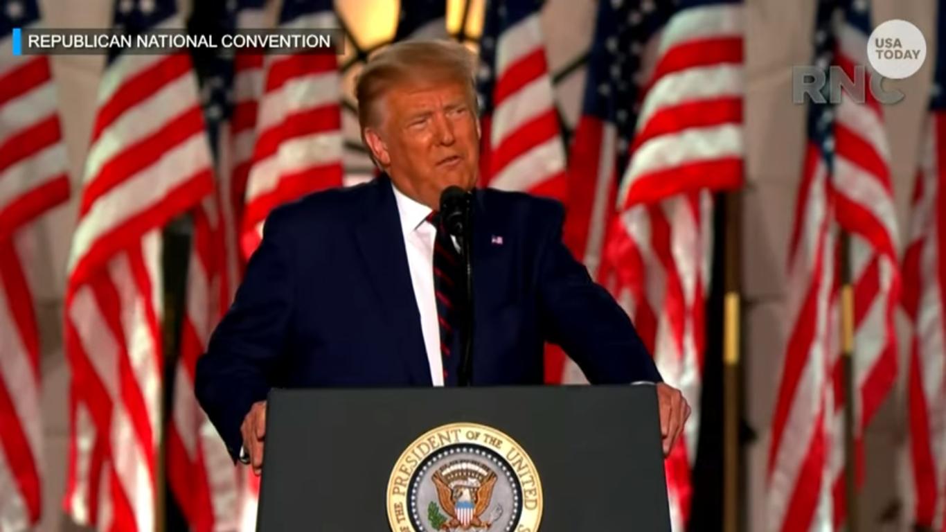 Trump Warns Biden Will 'Demolish the American Dream' in Speech Riddled with Falsehoods