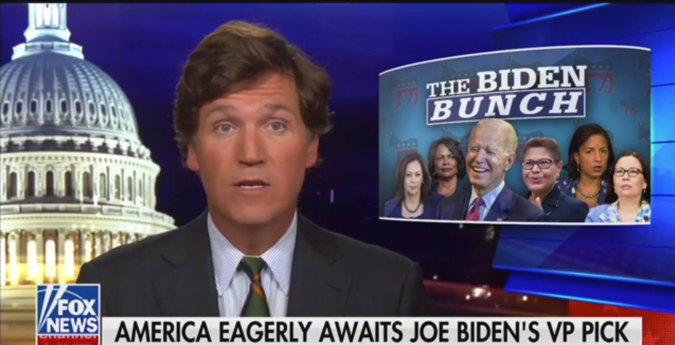 Tucker Carlson: It's 'Probably Illegal' for Biden to Just Consider Black Women for Vice President