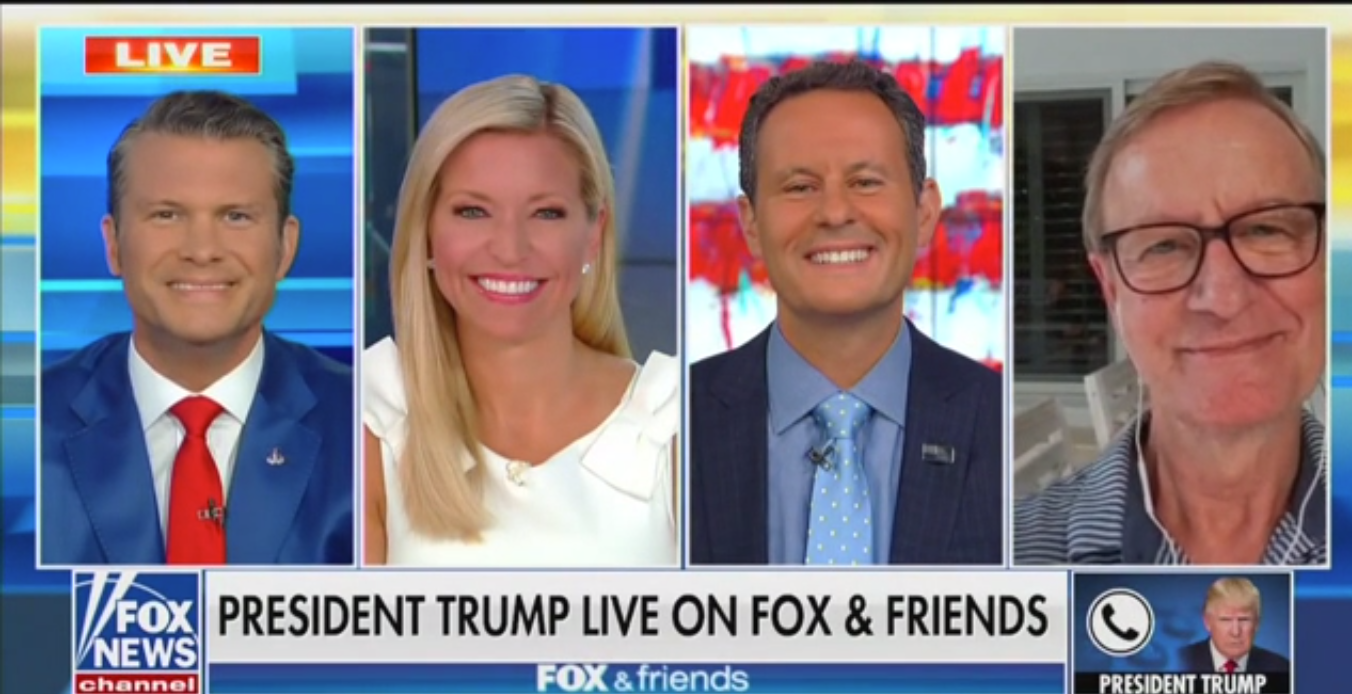 Trump Says Steve Doocy's Newly Married Daughter 'Starts Off with Excellent Genes'
