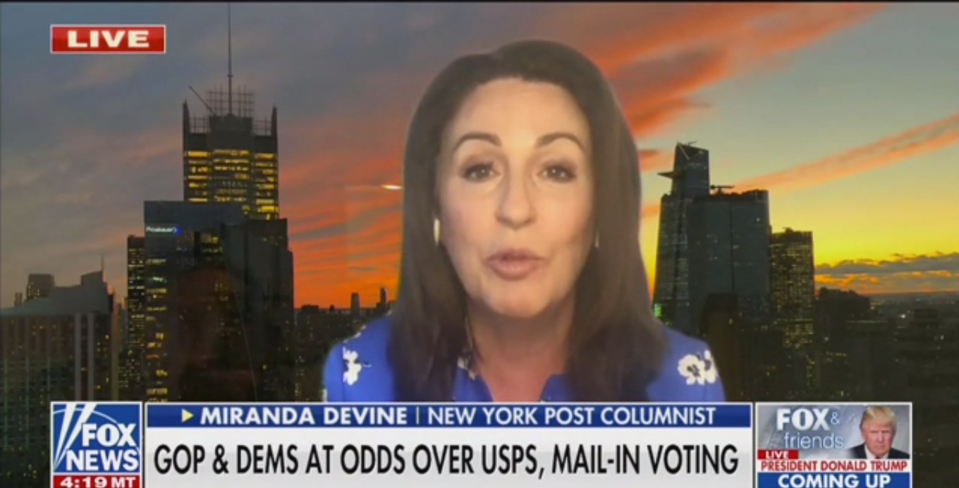 Fox News Guest: Post Office Problems Are a 'Hoax' to Cheat Trump of His 'Rightful Votes'