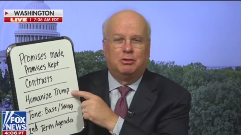 Watch: Karl Rove Discusses RNC While Clutching Dry Erase Board Live on Fox News