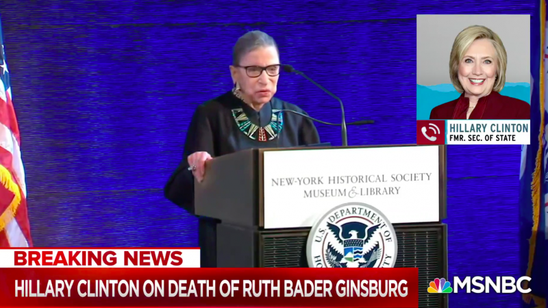 Clinton: Democrats Must Use 'Every Single Possible Maneuver' to Prevent McConnell from Replacing Ginsburg