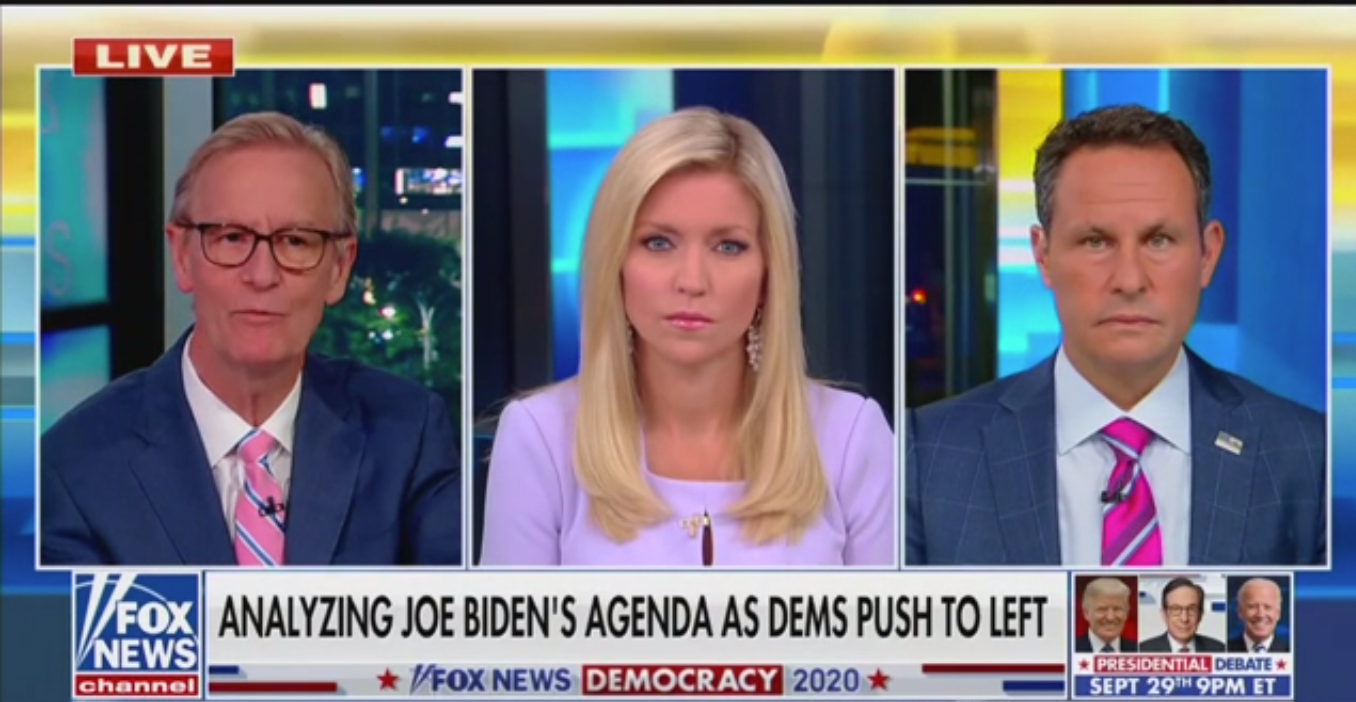 Fox's Brian Kilmeade: Democrats Will Revolt If Biden 'Decides to Go Moderate'