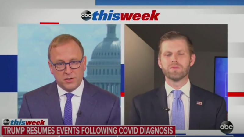 President Trump Is Being Cured By His Own 'Vaccine,' Son Eric Claims
