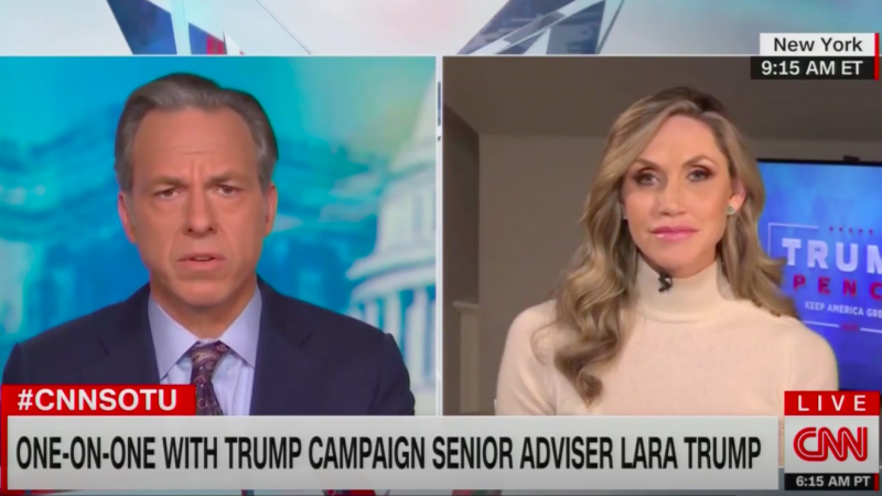 Jake Tapper Criticizes Lara Trump for Mocking Joe Biden's Stutter, Then Claiming She Knew Nothing About It