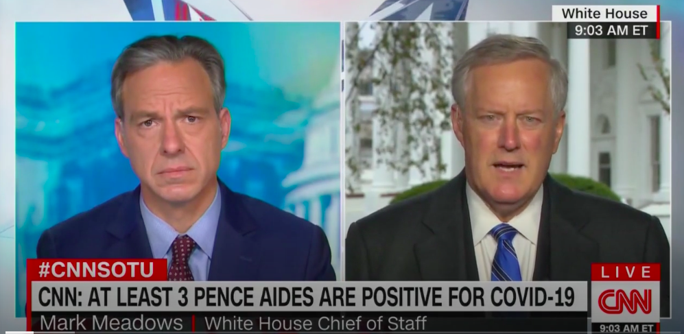 As Coronavirus Outbreak Hits Pence Aides, Mark Meadows Admits White House Is 'Not Going To Control' Pandemic