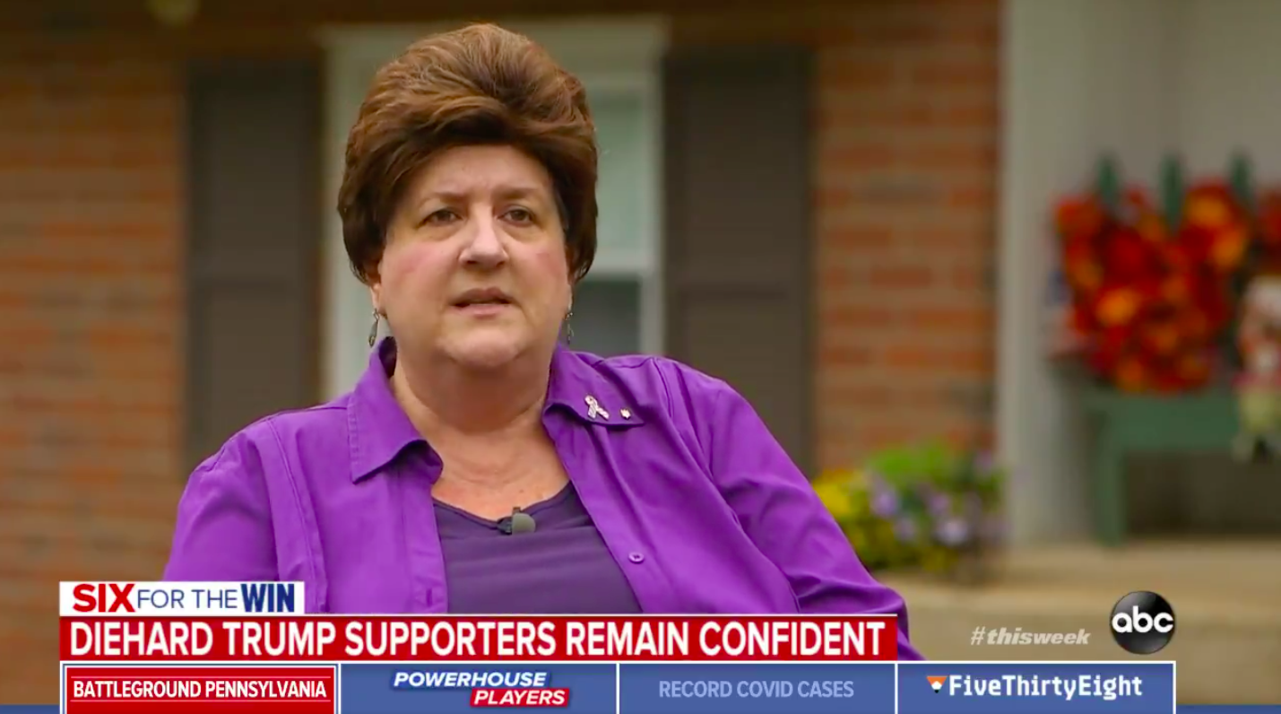 Pennsylvania Trump Supporter Says Nothing Has Made Her Doubt Her Position In the Last Four Years