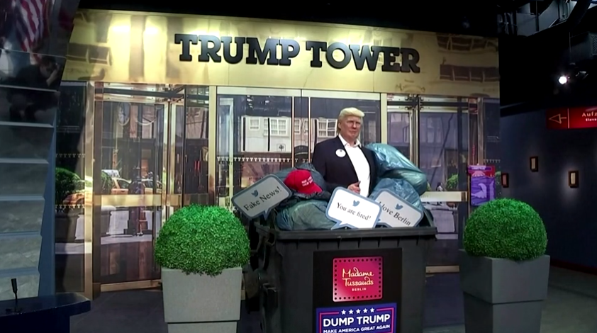 WATCH: Berlin's Madame Tussauds Puts Trump Wax Figure in Dumpster