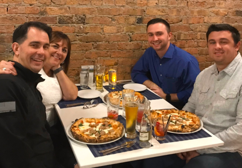 Scott Walker Gets Called Out on Twitter for Posting Old Photo While Claiming to Have Eaten Out Saturday Night