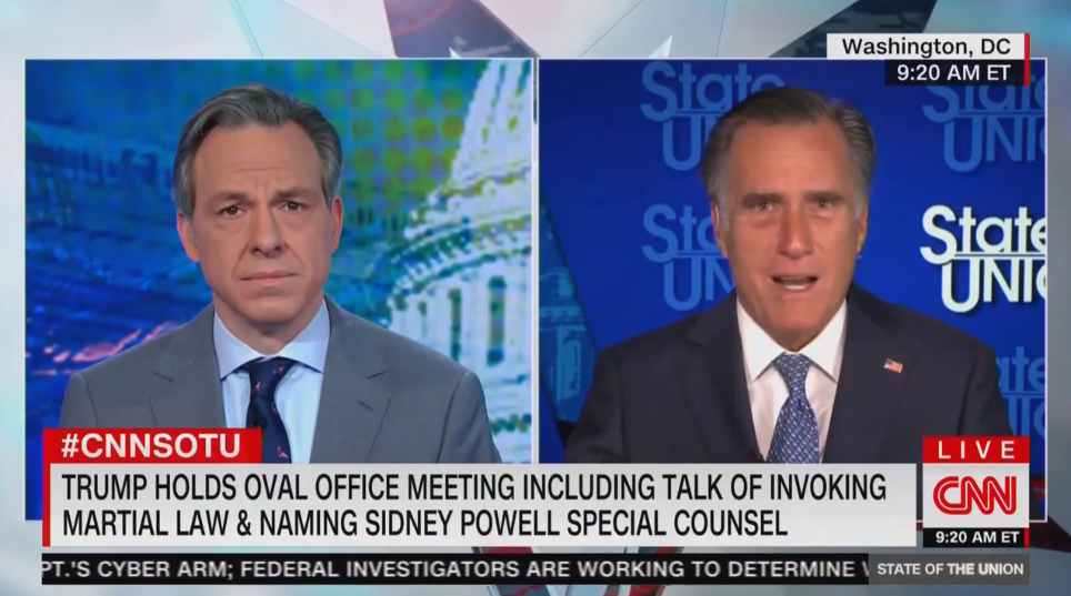 Romney: Trump's Flirtation with Martial Law Is 'Going Nowhere'