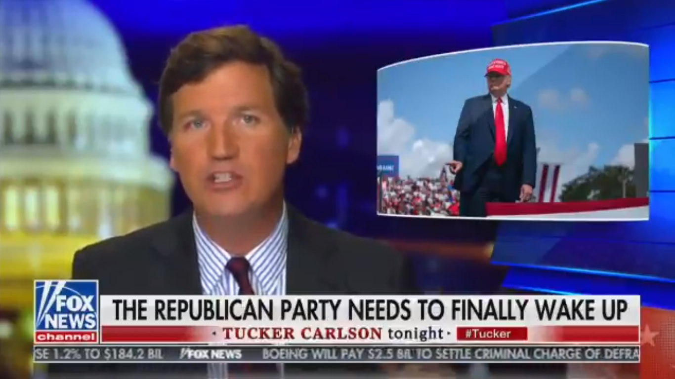 Tucker Carlson Says Trump 'Recklessly Encouraged' Capitol Hill Riot