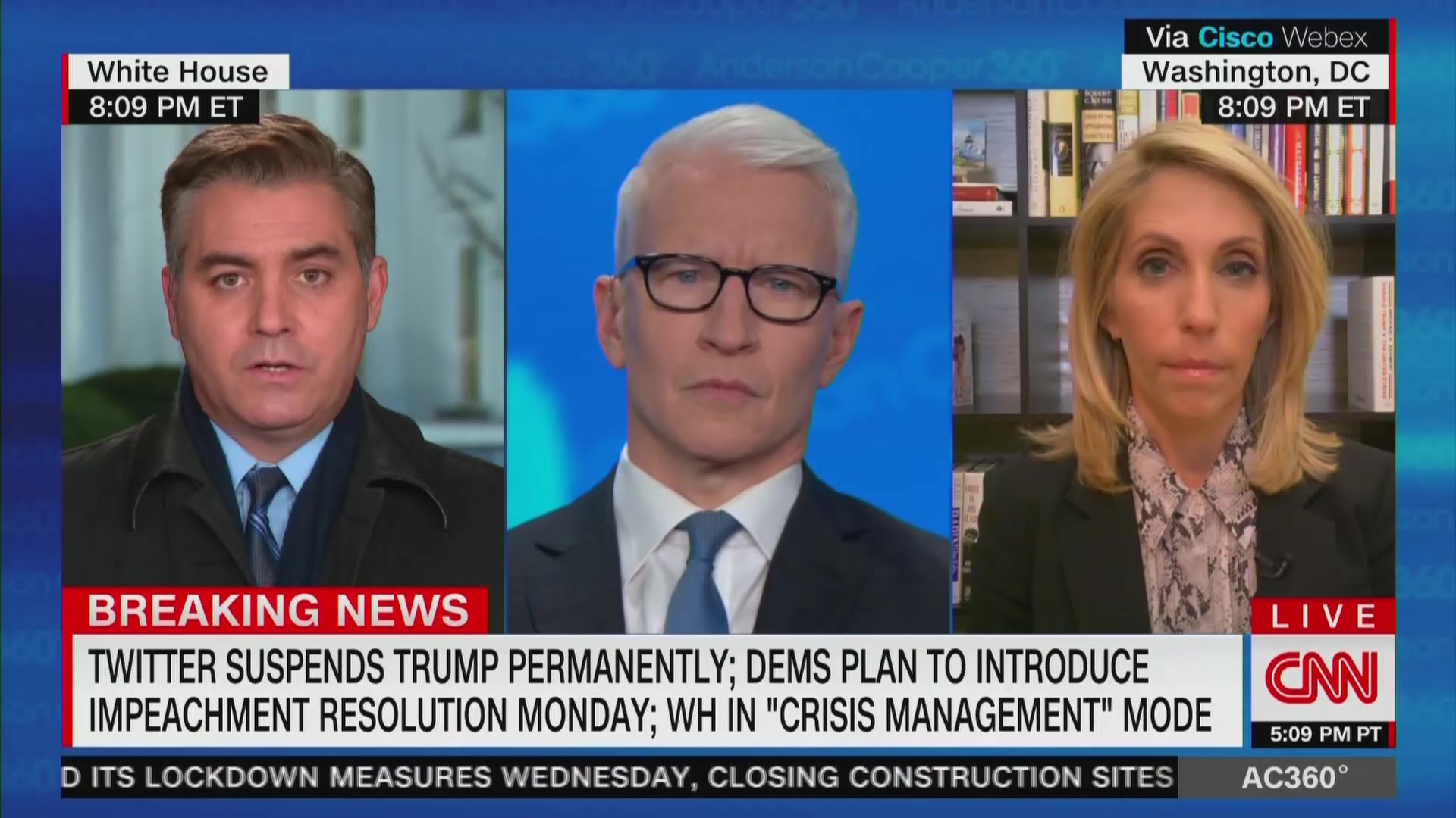 'His Toys Are Being Taken Away From Him,' CNN's Jim Acosta Says After Trump's Twitter Ban
