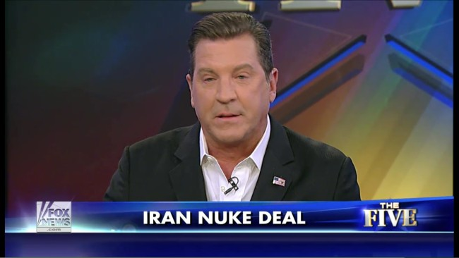 Fox News' Eric Bolling Thinks Going To War With Iran Would Be A Swell Idea