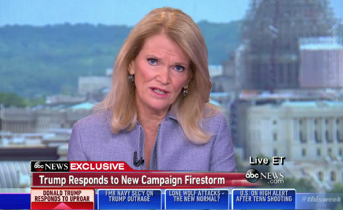 ABC's Martha Raddatz Rolls Her Eyes As Trump Claims He's The Only One Who Cares About Vets