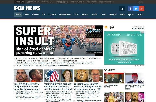 fox news website screengrabedited