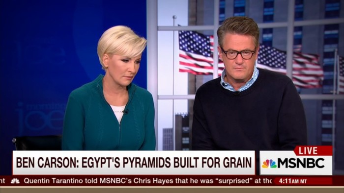 Even Joe Scarborough Is Dumbfounded By Ben Carson's Strange Theory On Egyptian Pyramids