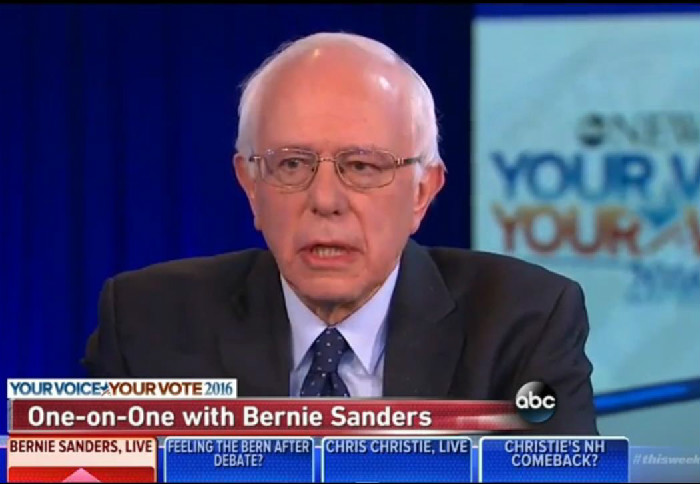 "Bernie Sanders On Donald Trump: ""I Think You Have A Pathological Liar There"""