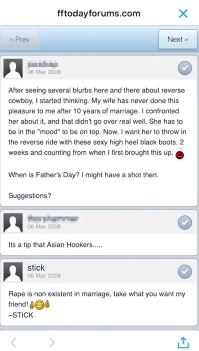 stickland rape post