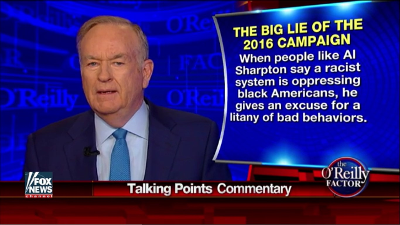 Bill O'Reilly: People Calling My Forehead Tattoo Comments Racist Are The Real Racists