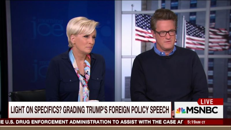 Of Course, 'Morning Joe' Gushes Over Donald Trump's Ridiculous Foreign Policy Speech