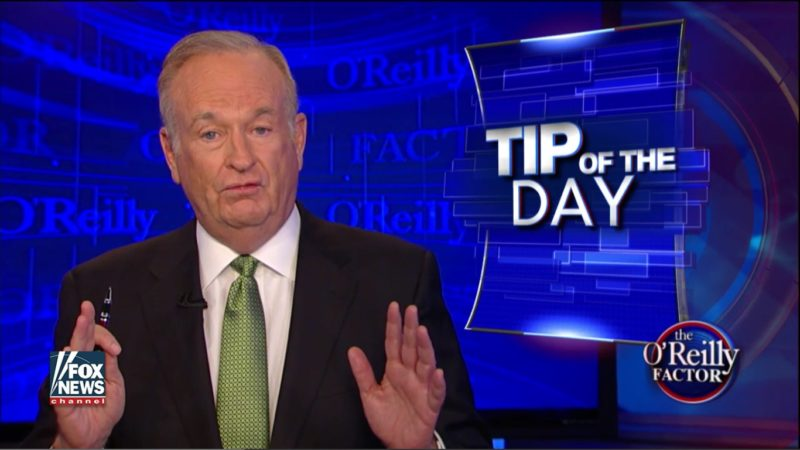 "Bill O'Reilly: Sure, Slaves Helped Build The White House, But They Were ""Well Fed"""