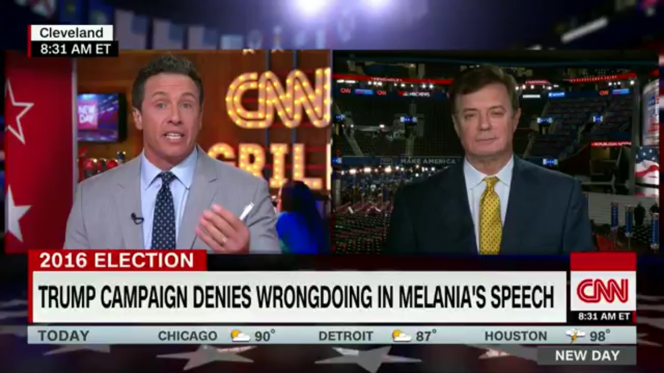 Chris Cuomo Calls Out Trump Campaign Manager For Lying About Plagiarized Speech