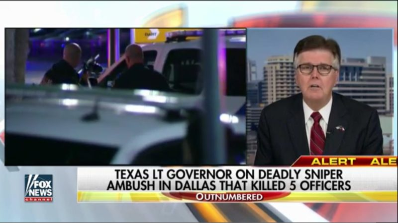 "Texas Lt. Governor Calls Protesters ""Hypocrites"" For Running Away From Shooting"