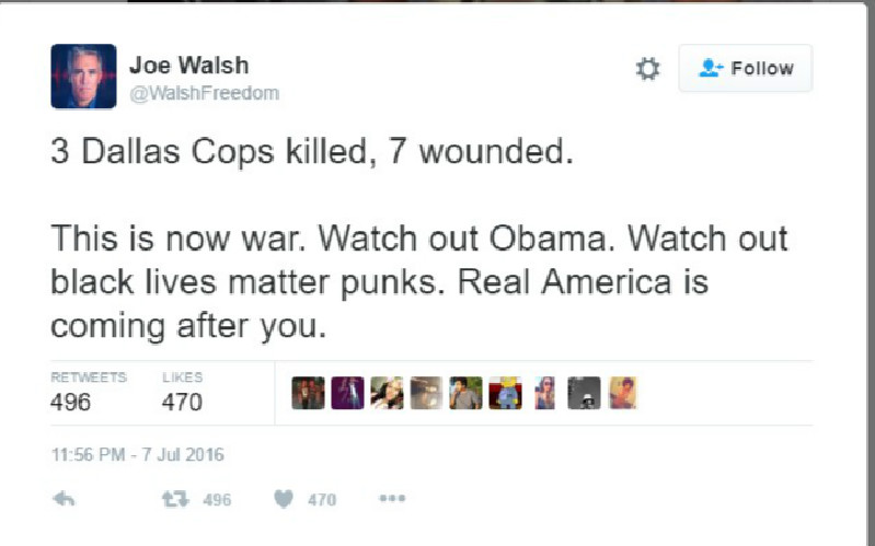 Former GOP Congressman Calls For Obama's Assassination In Wake Of Dallas Shooting