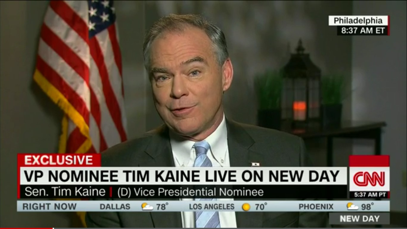 "Tim Kaine: Trump Wasn't Sarcastic On Russian Hacking, ""He Was Being Ignorant"""