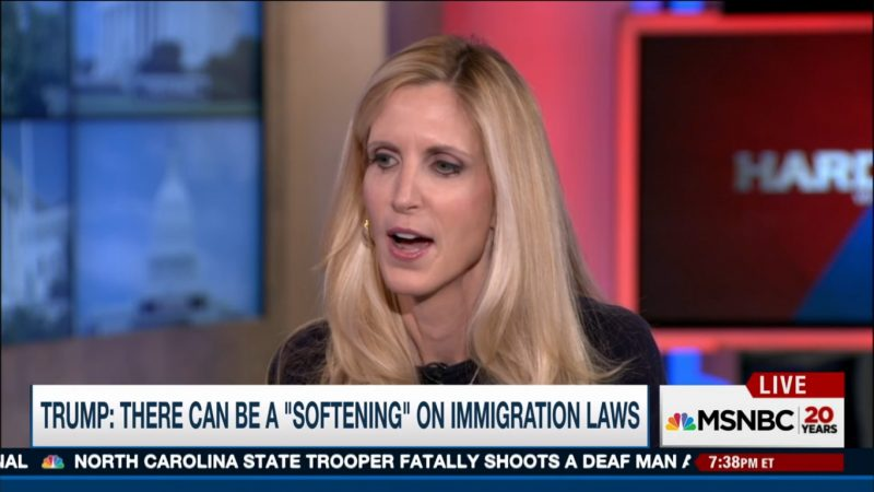 """Ann Coulter: """"This Could Be The Shortest Book Tour Ever"""" If Trump Softens On Immigration"""