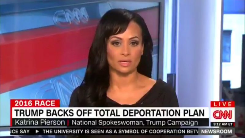 "Katrina Pierson Claims Trump Hasn't Shifted On Immigration, He's Just ""Changed The Words"""