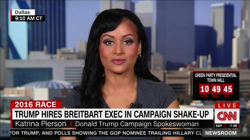 "After Trump Shakes Up Campaign Staff, Katrina Pierson Insists ""It's Not A Shakeup"""