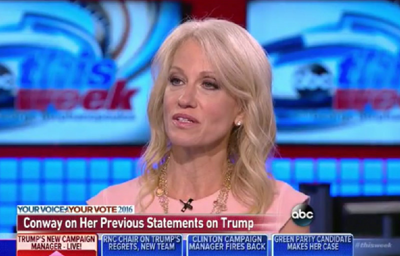 "New Campaign Manager Kellyanne Conway Insists Trump ""Doesn't Hurl Personal Insults"""
