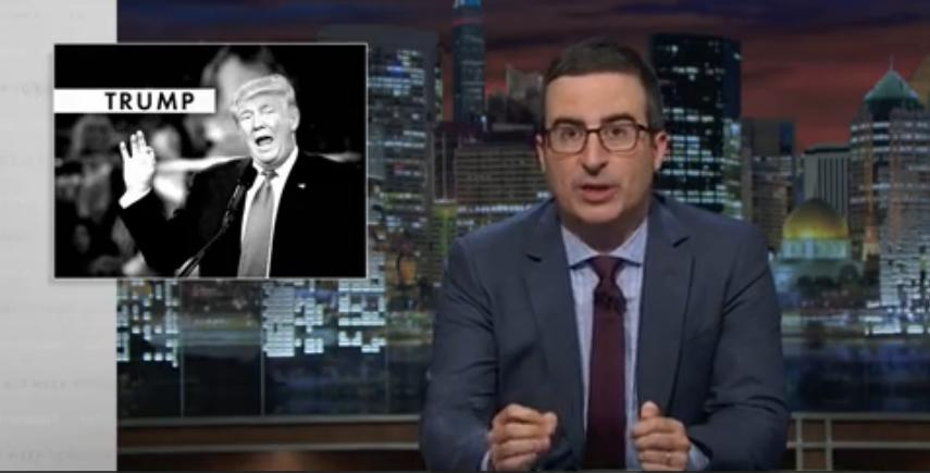 John Oliver: Trump's Sarcasm Excuse Is 'A Douchebag's Apology'