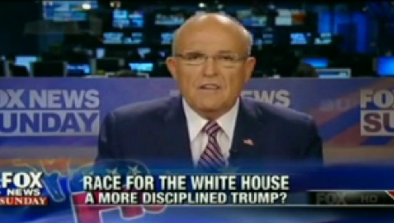 "Giuliani Sells Hillary Health Conspiracy: ""Go Online And Put Down Hillary Clinton Illness"""