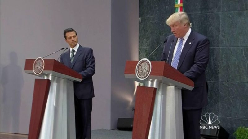"""We Didn't Discuss': Trump Chickens Out When Asked In Mexico Who Will Pay For Wall"
