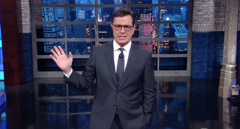 Stephen Colbert: Donald Trump's Head Is Too 'Full Of Ethnic Slurs' To Train For Debates