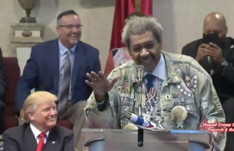 Trump Laughs As Don King Drops N-Word While Introducing Him At Cleveland Church